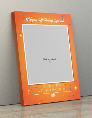 Photo Canvas Frames 12x17 - Birthday Wishes With Confetti Design