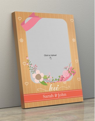 Photo Canvas Frames 12x17 - Bouquet With Love Background Design