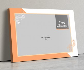 Photo Canvas Frames 14x10 - Wedding Anniversary With Floral Frame Design