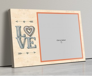 Photo Canvas Frames 14x10 - Love Arrows Design