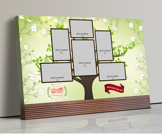 Photo Canvas Frames 14x10 - Family Tree Design