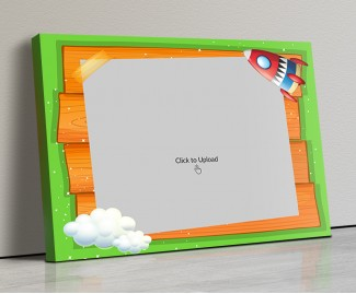 Photo Canvas Frames 14x10 - Cartoon Stars And Cloud Design