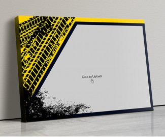 Photo Canvas Frames 14x10 - Yellow Graffiti Frame Design