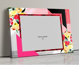 Photo Canvas Frames 14x10 - Floral Abstract  Design