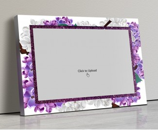 Photo Canvas Frames 14x10 - Lavender Floral  Design