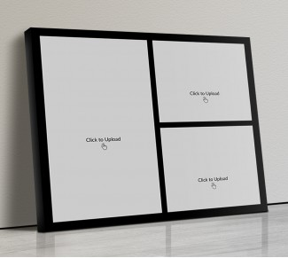 Photo Canvas Frames 14x12 - 3 Pic Upload With Border Design