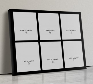 Photo Canvas Frames 14x12 - 8 Pic Upload With Border Design