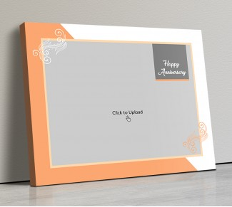 Photo Canvas Frames 14x12 - Wedding Anniversary With Floral Frame Design