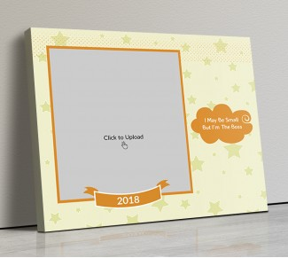 Photo Canvas Frames 14x12 - Stars Background with Quotation Design