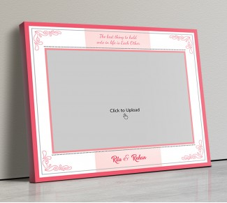 Photo Canvas Frames 14x12 - Couple Rings With Quotation Design