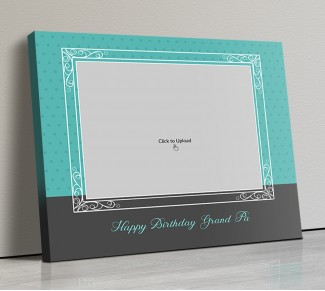 Photo Canvas Frames 14x12 - Happy Birthday Grand Pa  Design