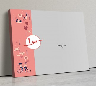 Photo Canvas Frames 14x12 - Love Cycle Design