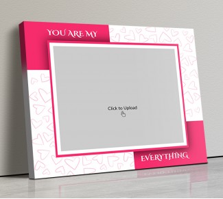 Photo Canvas Frames 14x12 - You Are My Everything  With Love Sketch Design