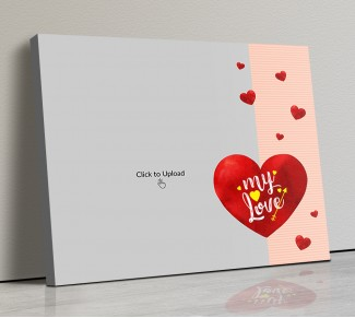 Photo Canvas Frames 14x12 - Red Hearts With Love  Design