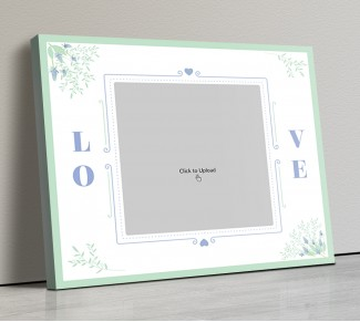 Photo Canvas Frames 14x12 - Vintage Frame With Florals Design
