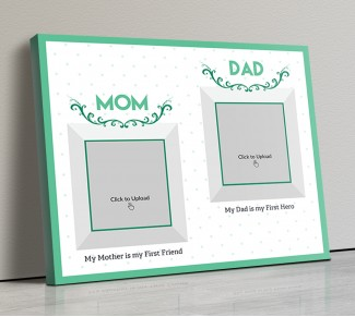 Photo Canvas Frames 14x12 - Mom And Dad Best Wishes Design