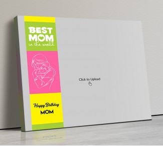 Photo Canvas Frames 14x12 - Mom And Baby Line Art Design