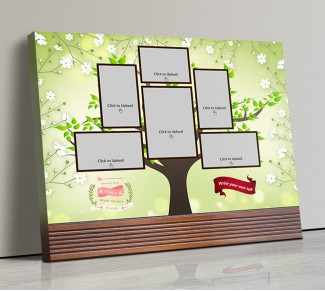 Photo Canvas Frames 14x12 - Family Tree Design