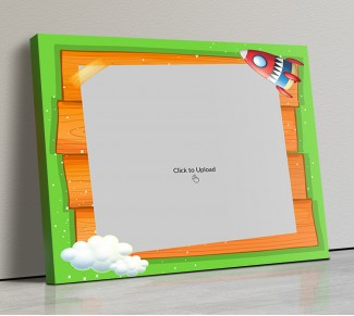 Photo Canvas Frames 14x12 - Cartoon Stars And Cloud Design