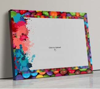 Photo Canvas Frames 14x12 - Water Color Splash Design