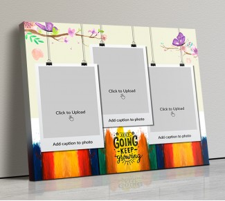 Photo Canvas Frames 14x12 - Keep Going Keep Growing Quotation Design