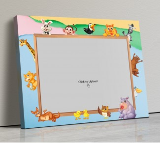 Photo Canvas Frames 14x12 - Cartoon Animals Frame Design