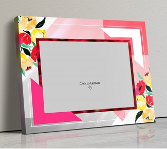 Photo Canvas Frames 14x12 - Floral Abstract  Design