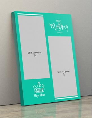 Photo Canvas Frames 14x20 - Best Mother And Father Quotation Design