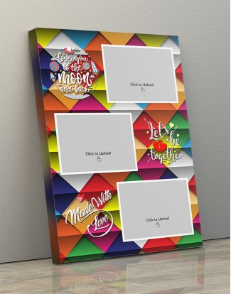 Photo Canvas Frames 14x20 - Let's Be Together With Abstract Backgroud Design