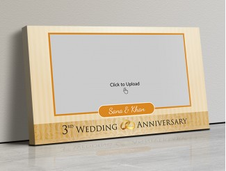 Photo Canvas Frames 17x10 - Wedding Anniversary Special Design