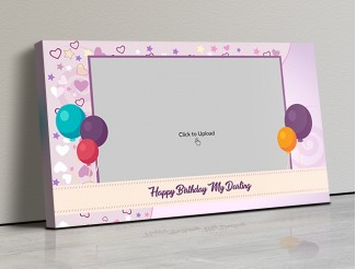 Photo Canvas Frames 17x10 - Birthday Balloons Design