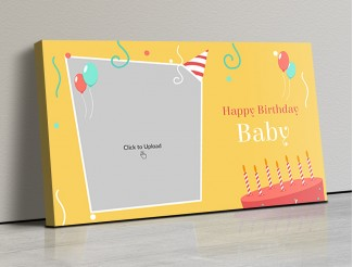 Photo Canvas Frames 17x10 - Birthday Blast Design