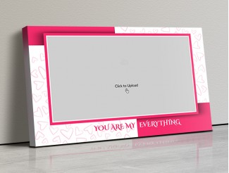 Photo Canvas Frames 17x10 - You Are My Everything  With Love Sketch Design