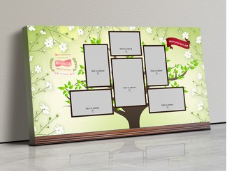 Photo Canvas Frames 17x10 - Family Tree Design