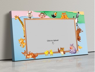 Photo Canvas Frames 17x10 - Cartoon Animals Frame Design