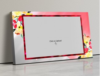 Photo Canvas Frames 17x10 - Floral Abstract  Design