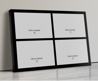 Photo Canvas Frames 17x12 - 4 Pic Upload With Border Design