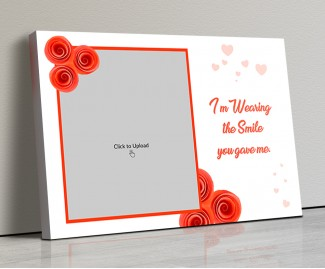 Photo Canvas Frames 17x12 - Orange Flowers With Quotation Design