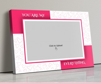 Photo Canvas Frames 17x12 - You Are My Everything  With Love Sketch Design