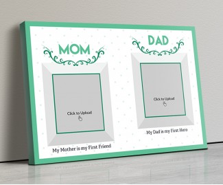 Photo Canvas Frames 17x12 - Mom And Dad Best Wishes Design