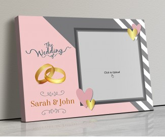 Photo Canvas Frames 17x12 - Golden Rings And Golden Hearts Design