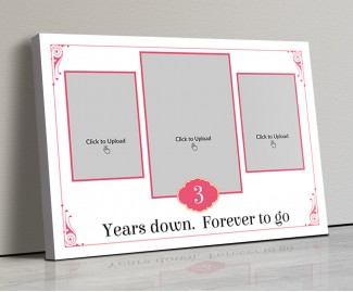 Photo Canvas Frames 20x14 - Vintage Frame With Quotation Design
