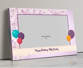 Photo Canvas Frames 20x14 - Birthday Balloons Design