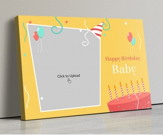 Photo Canvas Frames 20x14 - Birthday Blast Design