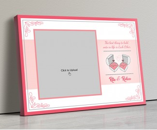 Photo Canvas Frames 20x14 - Couple Rings With Quotation Design
