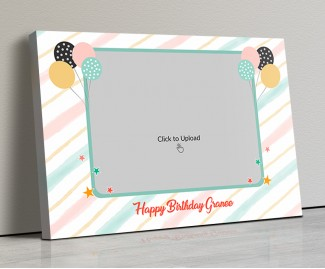 Photo Canvas Frames 20x14 - Happy Birthday Granny Design