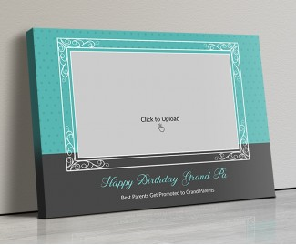 Photo Canvas Frames 20x14 - Happy Birthday Grand Pa  Design