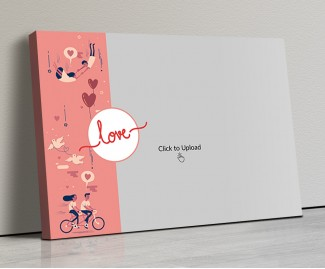 Photo Canvas Frames 20x14 - Love Cycle Design