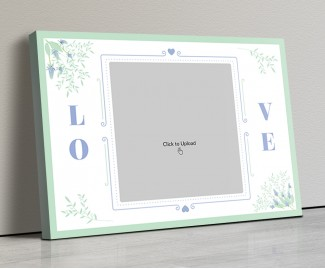 Photo Canvas Frames 20x14 - Vintage Frame With Florals Design