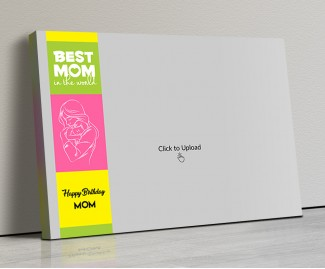 Photo Canvas Frames 20x14 - Mom And Baby Line Art Design